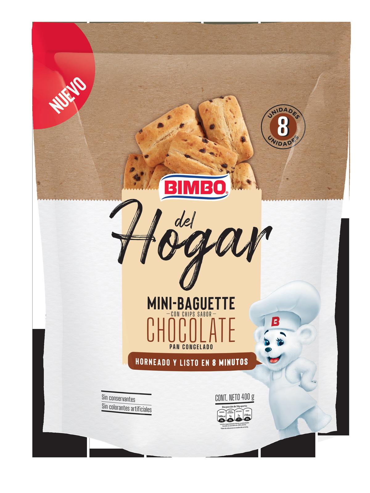 Bimbo del Hogar - Mini Baguette Chips de Chocolate