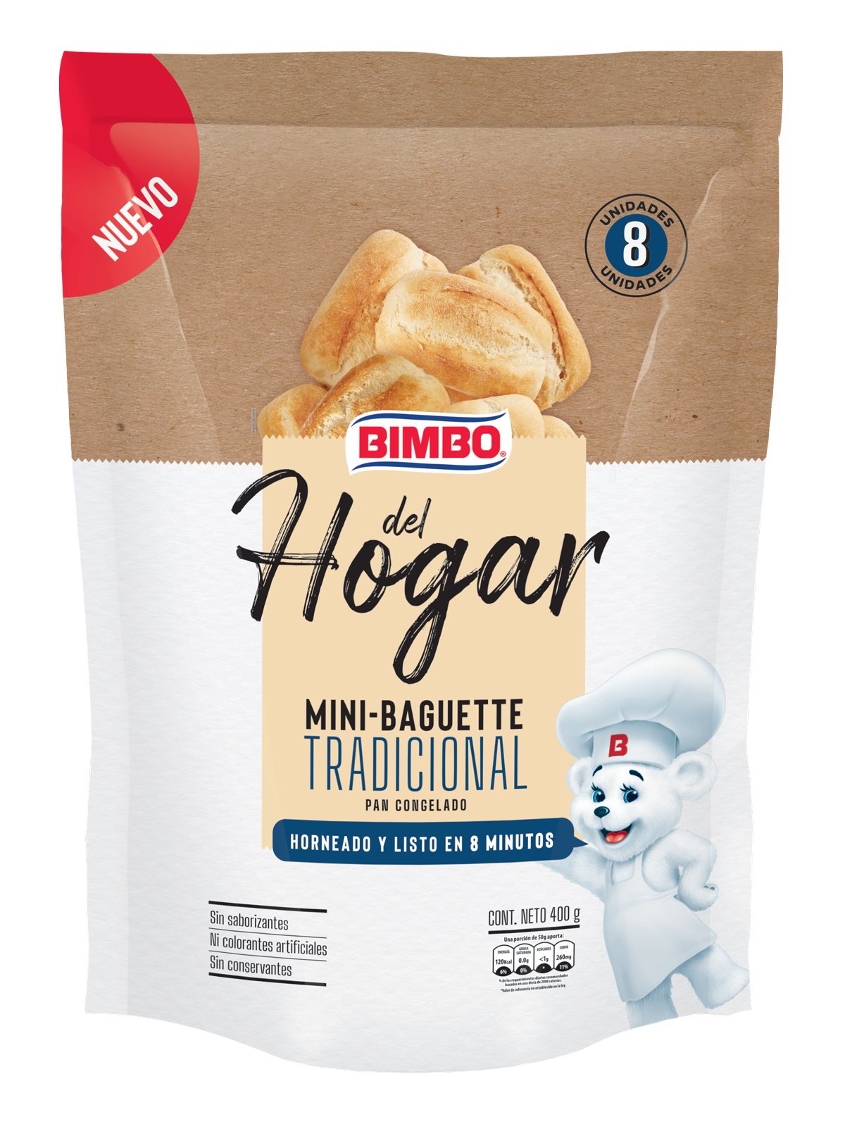 Bimbo del Hogar - Mini Baguette Tradicional